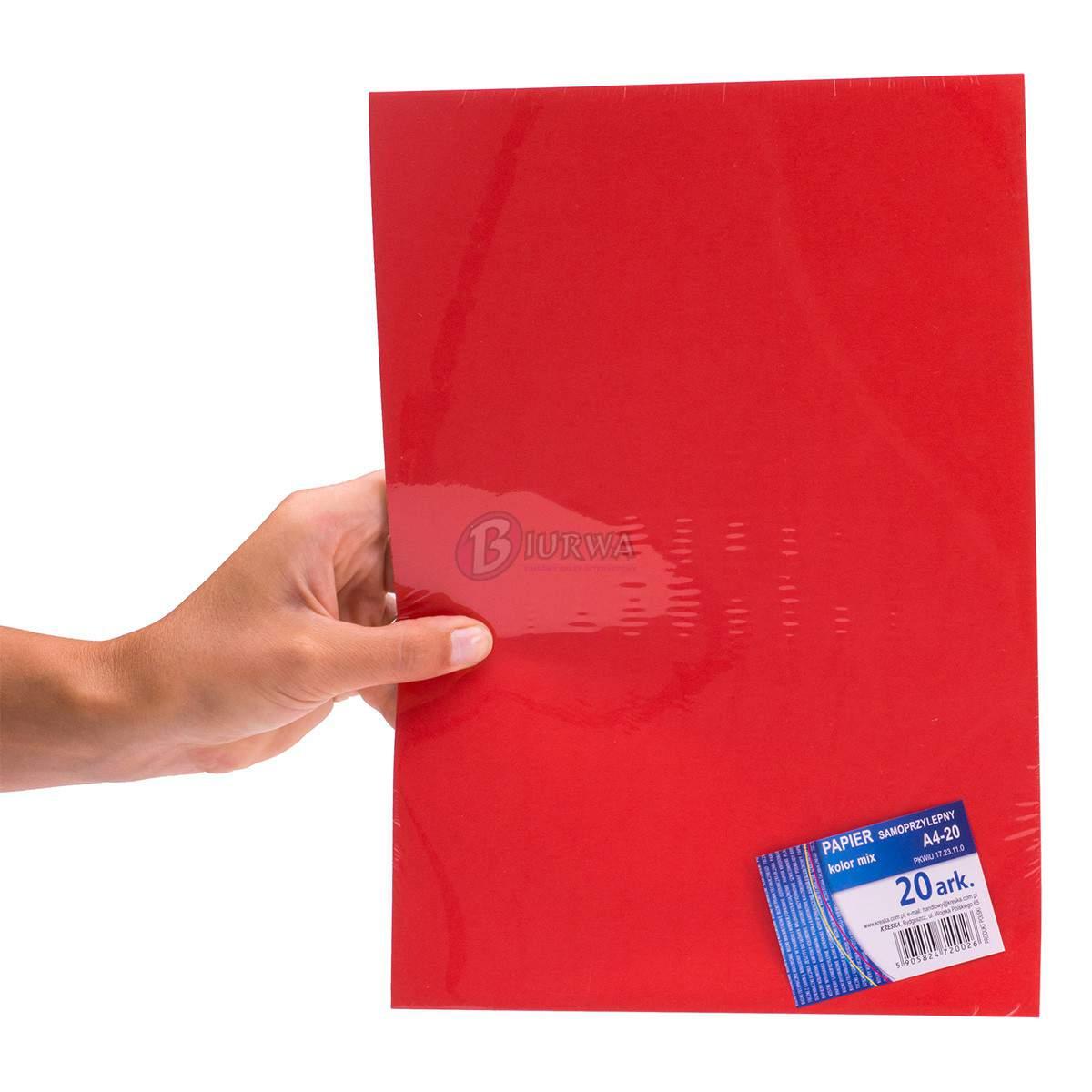papier samoprzylepny czerwony